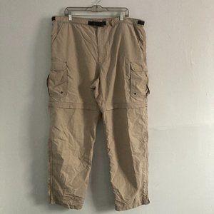 REI Convertible Hiking Pants Khaki Men's XL X 32